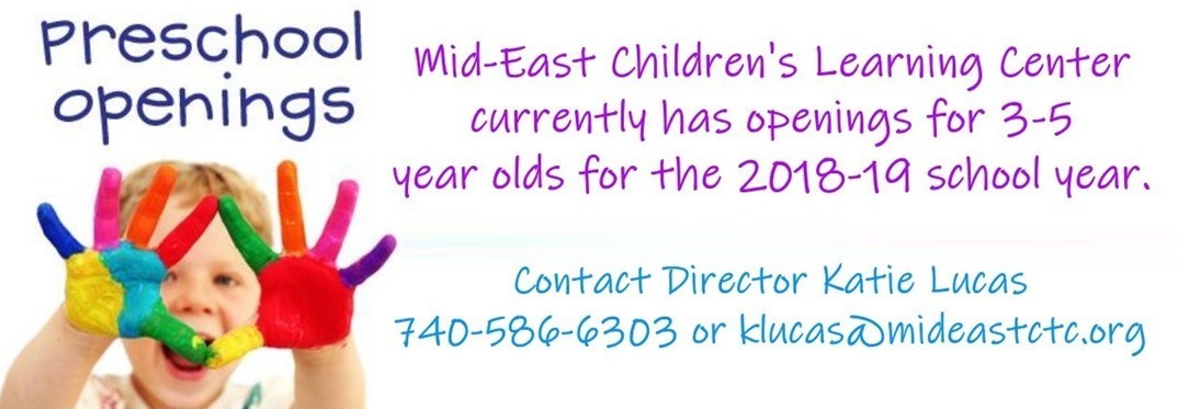 Mid-East Banner Preschool Openings