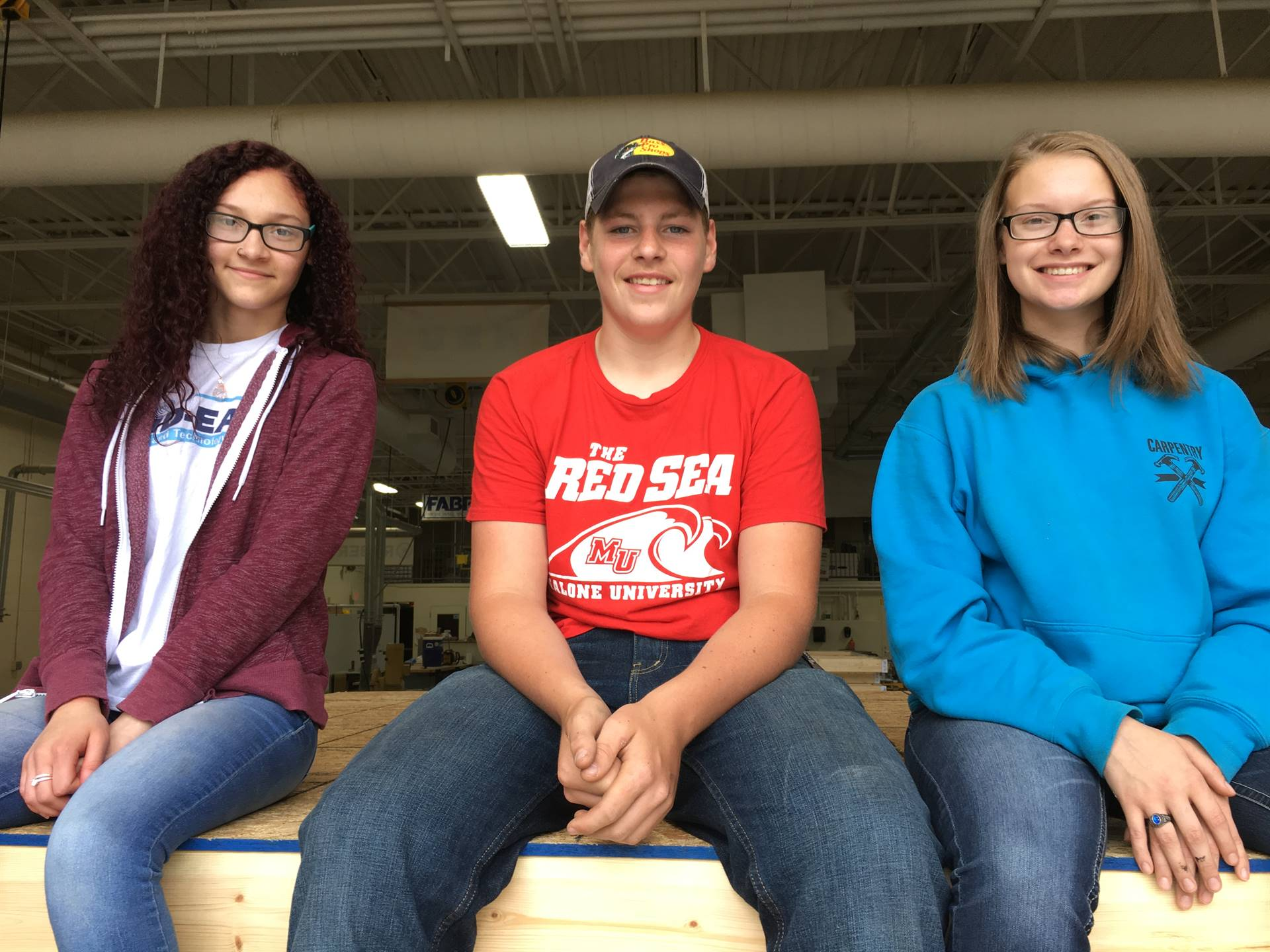 Tamia Arnold, Tyler Tomas and Shannon Bills - Carpentry - Robertson Construction